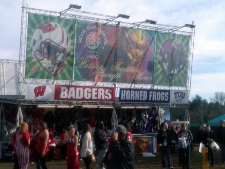 Badgers Frogs Sign