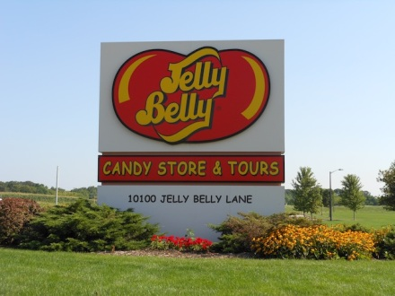 Jelly Belly Road Sign