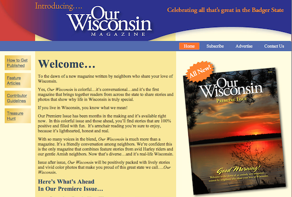Our Wisconsin Mag Website