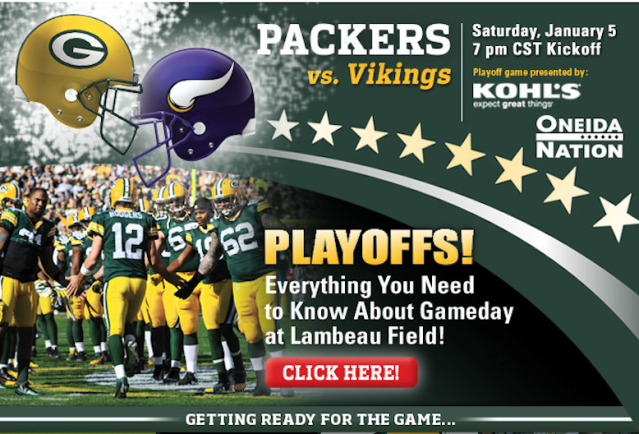 PACKERS Vikings PLAYOFFS 2012
