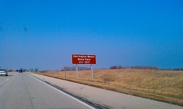 Harrington Beach Sign