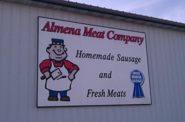 Almena Meat Sign