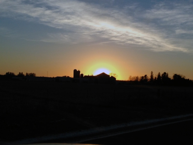 AWE Farm WINTER Sunset