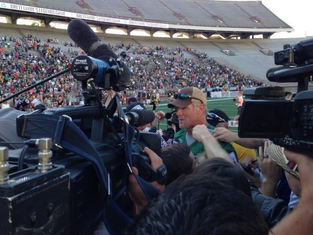 FAVRE Talks To Press