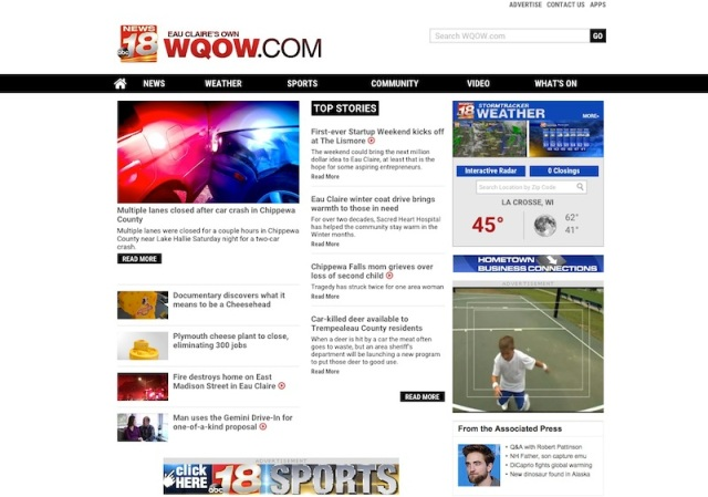 WQOW Front Page