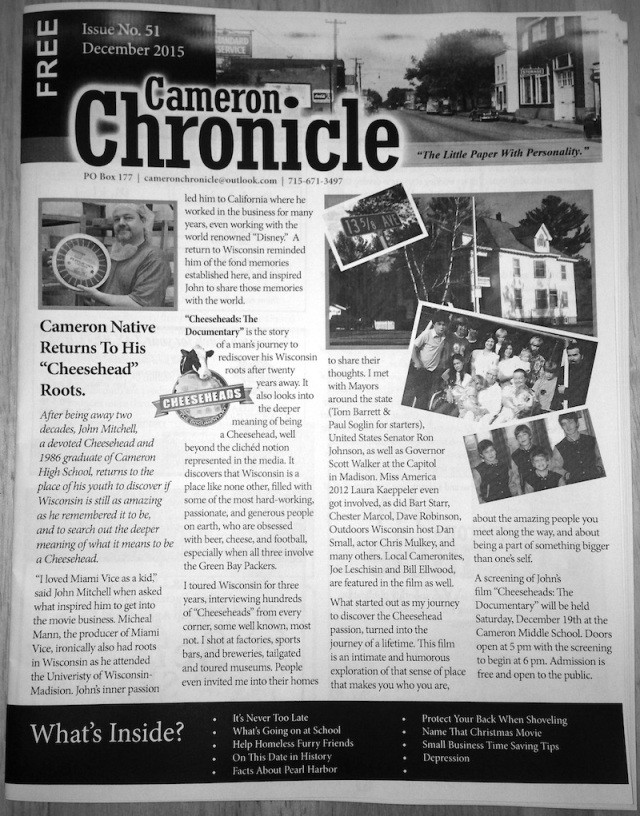 Cameron Chronicle CH ARTICLE