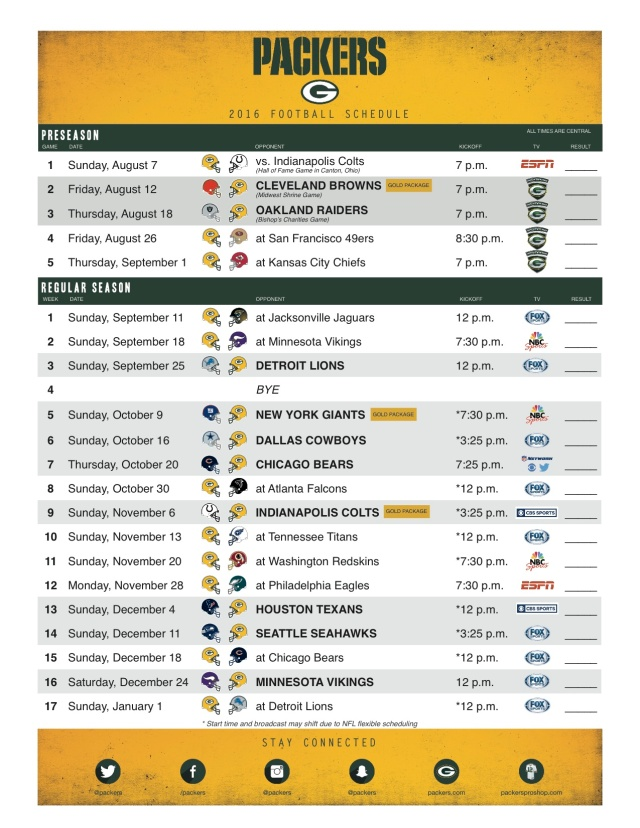 It's just a photo of Impeccable Packers Printable Schedule