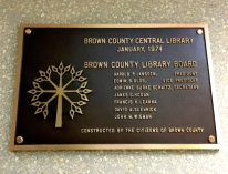 Brown County Central Plaque